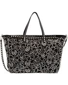 Valentino Butterfly-Studded Large Tote - Lyst