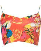 Topshop Tropical Print Bralet By Boutique Multi - Lyst