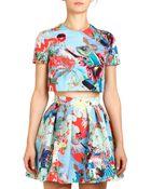 Mary Katrantzou Abalone Sky Hillie Printed Pleated Skirt - Lyst