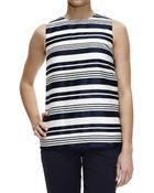 RED Valentino Top Sleeveless Jaquard Lines - Lyst