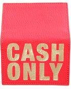 Blue&Cream 'Cash Only' Card Case - Lyst