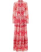 Temperley London Red Mix Ripple Print Dress - Lyst