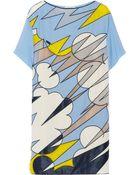 Vionnet Paneled Silk-Blend Crepe Mini Dress - Lyst