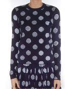 Kenzo Polka Dot And Stripes Sweater - Lyst