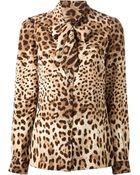 Dolce & Gabbana Leopard Print Blouse - Lyst