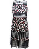 RED Valentino Mixed Print Dress - Lyst