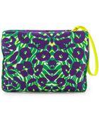 M Missoni Camouflage Canvas Pouch Purple - Lyst