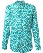 Burberry Brit Button Down Floral Print Shirt - Lyst