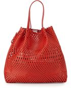 Nina Ricci Pamina Woven Leather Tote Bag W/ Wallet - Lyst
