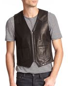 The Kooples Leather Vest - Lyst