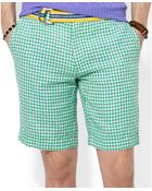 Polo Ralph Lauren Straight-Fit New Haven Checked Linen Shorts - Lyst
