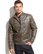 Michael Kors Michael Larimer Faux Leather Moto Jacket - Lyst