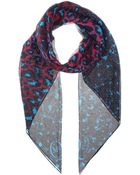 McQ by Alexander McQueen Printed Silk Crepe Scarf - Lyst