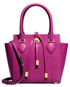 Michael Kors 'Extra Small Miranda' Snake Embossed Leather Tote - Lyst