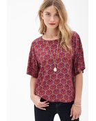 Forever 21 Abstract Print Top - Lyst