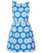 Alice + Olivia Epstein Structured Pouf Dress - Lyst