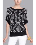 Natori Silk Cotton Pullover - Lyst