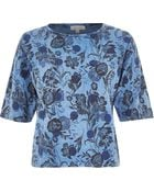 River Island Blue Floral Spot Print Oversized Boxy Top - Lyst