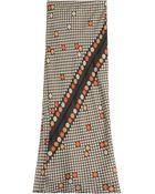 Maison Margiela Printed Silk Georgette Maxi Skirt - Lyst
