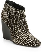 Pierre Hardy Animal-Print Calf Hair Wedge Ankle Boots - Lyst