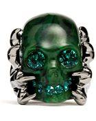 Alexander McQueen Plexiglas Claw Skull Ring - Lyst