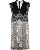 Etro Paisley Contrast Back Dress - Lyst