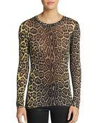 BCBGMAXAZRIA Agda Leopard Print Top - Lyst