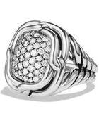 David Yurman Labyrinth Small Ring With Diamonds - Lyst