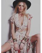 Free People Womens Jasper Midi Dress - Lyst