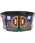 Manish Arora 120Mm Heart Embroidered High Waist Belt - Lyst