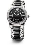 David Yurman Classic 34Mm Stainless Steel Quartz Watch With Diamonds - Lyst