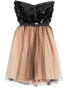 RED Valentino Swiss Dot Organza And Paillette Cocktail Dress - Lyst
