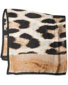 Vince Camuto Wild Animal Print Silk Square Scarf - Lyst