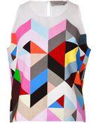 Preen By Thornton Bregazzi Tile Print Shell - Lyst