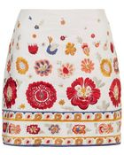 Topshop Troubadour Floral Embroidered Pelmet Skirt - Lyst