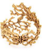 Oscar de la Renta Coral Branch Bracelet - Russian Gold - Lyst