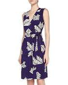 Diane von Furstenberg New Yahzi Printed Wrap Dress - Lyst