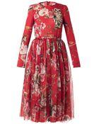 Dolce & Gabbana Floral and Animalprint Silk Dress - Lyst