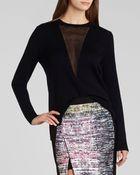BCBGMAXAZRIA Sweater - Joice Sheer V - Lyst