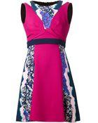Peter Pilotto Graphic-print Sleeveless Dress - Lyst
