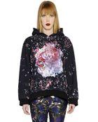 MSGM Hooded Printed Cotton Sweatshirt - Lyst
