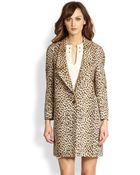 Diane von Furstenberg Britta Leopard Jacquard Jacket - Lyst
