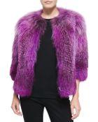Prabal Gurung Fox Fur Front-Zip Jacket - Lyst