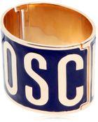 Moschino Logo Lettering Enameled Bracelet - Lyst