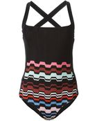 Missoni Crochet-Knit Swimsuit - Lyst