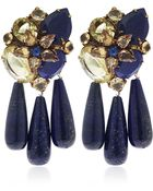 Iradj Moini Blue Lapis Lazuli And Citrine Three Drop Earrings - Lyst