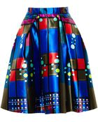 Peter Pilotto Printed A-Line Mikado Silk Skirt - Lyst