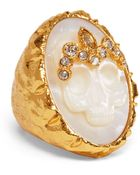 Alexis Bittar Mother Of Pearl Skull Cameo Ring - Lyst