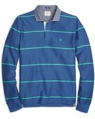 Brooks Brothers Frame Stripe Rugby Shirt - Lyst