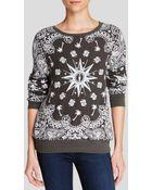 Wildfox Sweatshirt - Bandana Print - Lyst